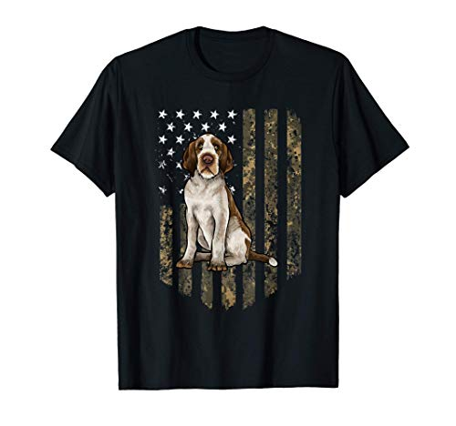 Bandiera Americana Camuflaje Spinone Camiseta