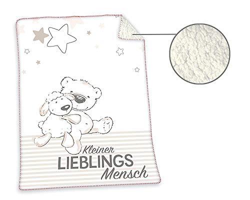 Herding LIEBLINGSMENSCH Soft-Plush-Decke, 75x100 cm, 100% Polyester