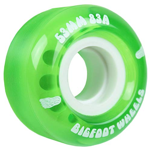 Bigfoot Skateboard Wheels 53mm 83A Soft Cruiser Filmer Wheels Green Set of 4