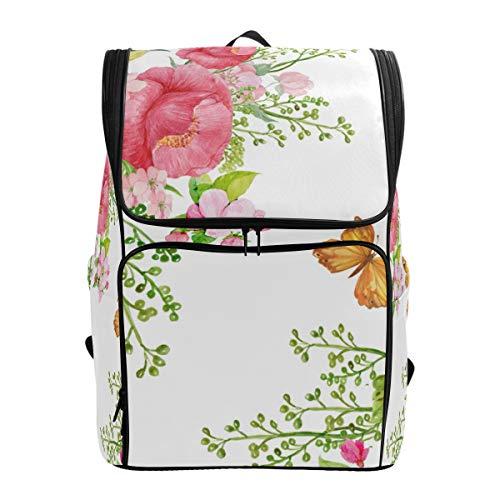 LISNIANY Rucksack,Tapetenstoff Papierblumen drucken,Computertasche,Schultasche,große Kapazität