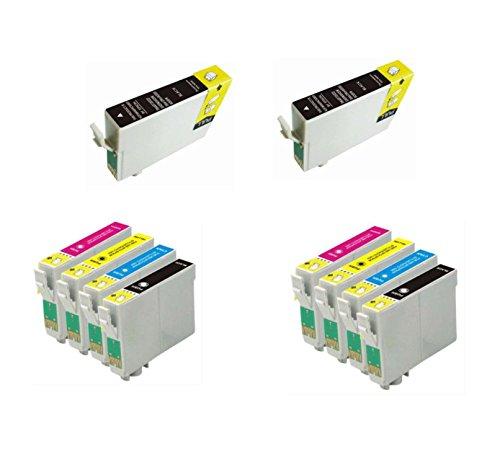 Bramacartuchos - 10 X Cartuchos compatibles NON OEM para Epson T1291-1294 ALTA CAPACIDAD, SX425W, SX435W, SX438, SX438W, SX440w, SX445W, SX525WD, SX535WD, SX620FW, Epson Workforce 7015, 7515, WF-7515, WF-7525