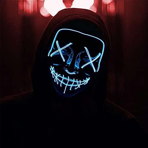 AnVerse LED Máscaras Halloween, Purga Grimace...