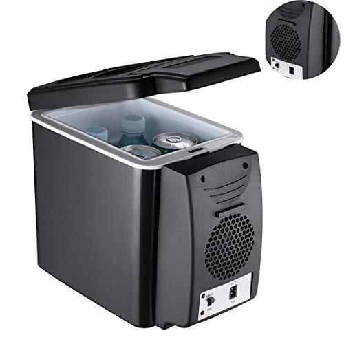 6 litros de Coches Mini refrigerador, congelador de refrigerador del compresor portátil, Ligero de Doble Uso refrigerador Aislado envase de la Caja 12 V Refrigeradores