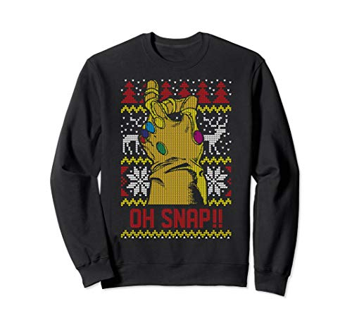 Marvel Thanos Oh Snap!! Ugly Christmas Sweater Sweatshirt