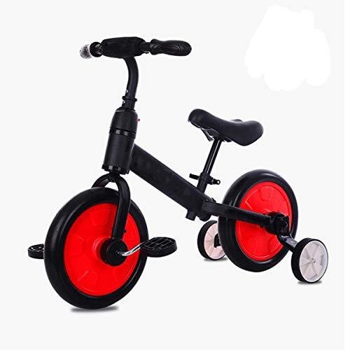 QHY Ultraligero Niños Andando En Bicicleta, Montando La Bicicleta Niños Bicicleta De Equilibrio para 1-5 Años Bebé Caminante Scooter Bicicleta Auxiliar Rueda Sin Pedal Aprender A Montar (Color : Red)