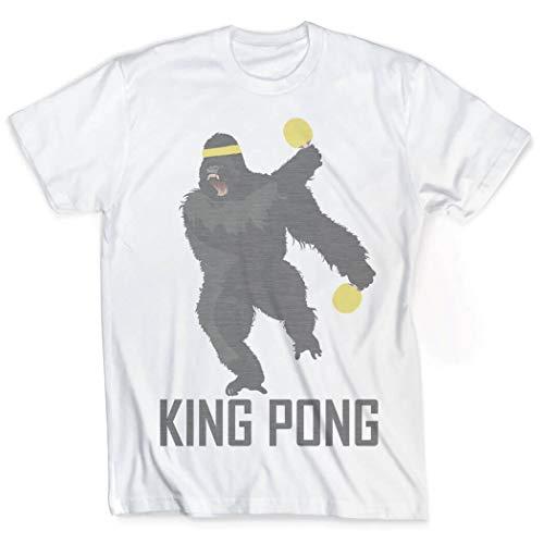 Vintage Ping Pong T-Shirt - King Pong,Adult Medium,white
