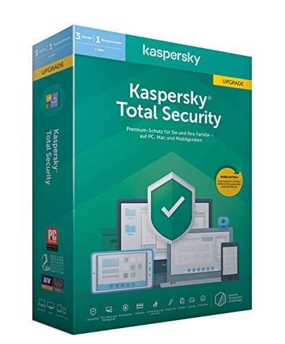 Kaspersky Total Security Upgrade (Code in a Box). Für Windows 7/8/10/MAC/Android