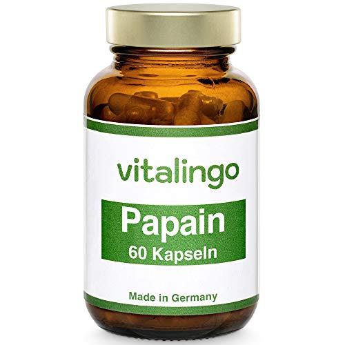 Papain Enzym Kapseln (mind. 35 Mio. USP units/g) VEGAN und hochdosiert - 60 Stück Papain Kapseln à 500mg