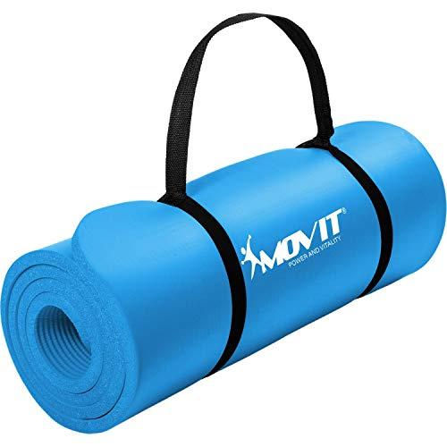 Movit Tapis de Gymnastique Pilates, Tapis de Yoga, sans phtalate, testé SGS, 183 x 60 x 1,0cm, en 12 Couleurs différentes