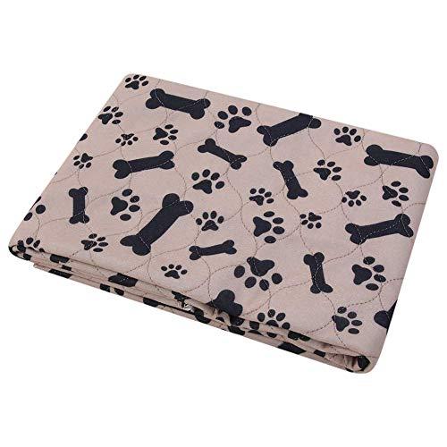 WYJW Puppy Dog Cat Pee Bed Pad Poliéster Reutilizable Impermeable Manta para Perros Pee Proof Forma de Hueso de café Pet Mantas absorbentes adicionales para sofá Cama Sofá Cama Suelo (70 * 80cm)