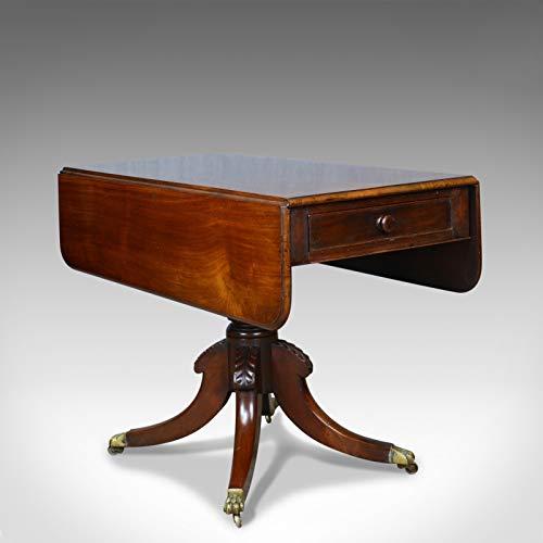 London Fine Antiques 1820 - Mesa de Pembroke Antigua, Caoba, inglés, regencia, Solapa, Circular