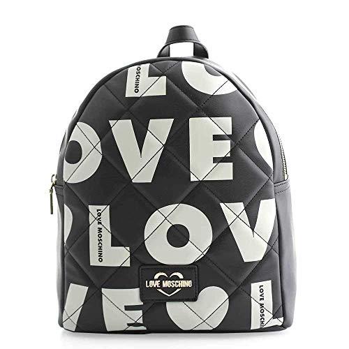 Love Moschino Borsa Matt Nappa Pu, Spalla Donna, Nero, 31x29x12 cm