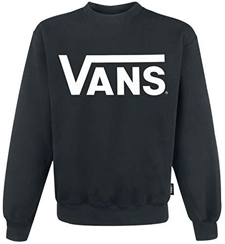 Vans Herren Classic Crew Sweatshirt, Schwarz (Black/white), Medium