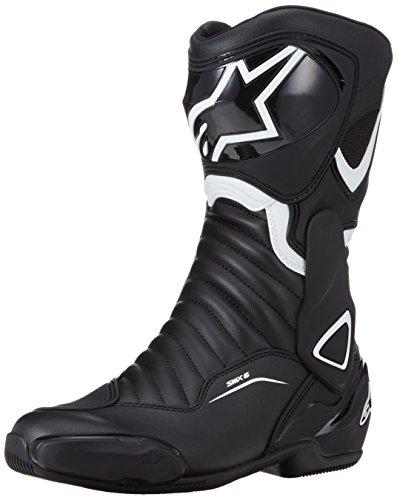 ALPINESTARS Botas de moto SMX-6 V2 Sport Racing, color negro y blanco, talla 44