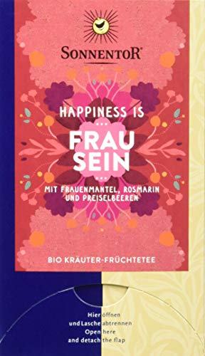 Sonnentor Bio Frau sein Tee Happiness is, 3er Pack (3 x 31 g)