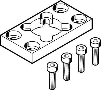Preisvergleich Produktbild Festo 1405211 Modell damf-f732 Flansch Montage