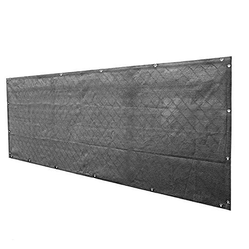 Pantalla para Balcón, HDPE Escudo de Privacidad Parabrisas Toldo para Balcón con Ojales Protección UV Protección de Privacidad para Apartamento, Tamaño personalizado ( Color : Gray , Size : 0.6x15m )