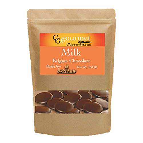 Belcolade Belgian Baking Milk Chocolate Discs - Lait Selection 33% - 16 OZ - 1LB