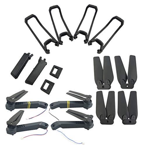 VOTOLA E58 Drohne ersatzteile für Eachine E58 S168 JY019 Faltender Quadcopte Drohne(Schutzhülle,Fahrwerk,Luftschrauben und Achse Arme mit Motor& Luftschrauben)