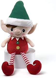 "16"" Red, Green and White Striped Plush Personalized Magic Message Christmas Elf"