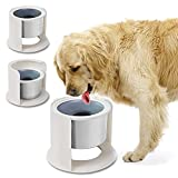LIDLOK Dog Water Bowl Elevated Dog Bowls Slow Water Feeder Dog Bowl with Floating Disk No-Spill Water Bowl for Dogs (4.4L Water Bowl)