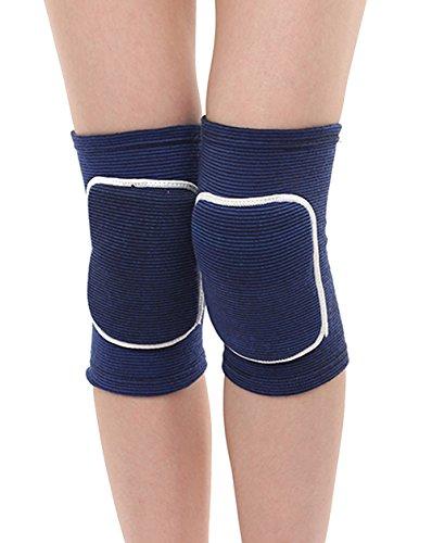 ITODA Knieschützer Kinder Knieschutz Sport Kniebandage für Junge Mädchen Elastische Kniestütze Knieschoner mit Sicherheit Schwamm Knieprotektor Unterstützung für Rollschuhe Tennis Radsport Blau M