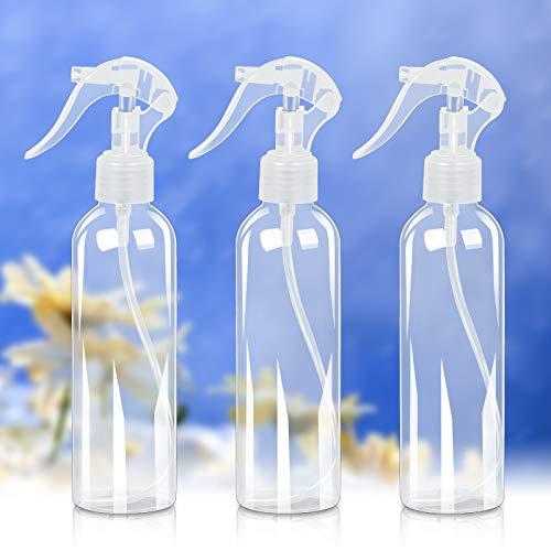 CHIFOOM 200ml Flacons Spray pour Plantes,3 Pcs Bouteille de pulvérisation Conception à bouche ronde ,Vaporisateur Portable d'eau pour Arrosage Nettoya