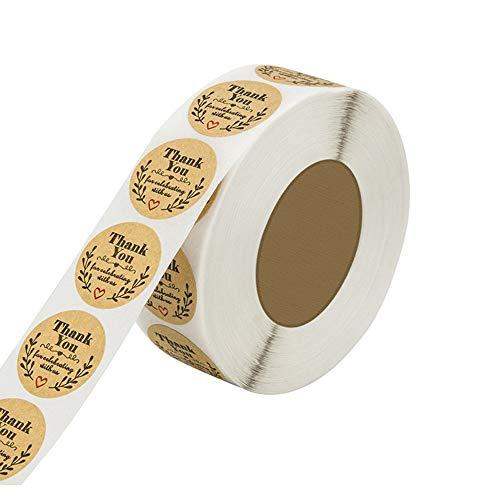Gotyou 500 Pieza Etiqueta de Papel Kraft