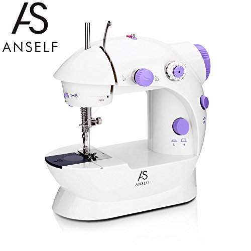Anself Mini Sewing Machine Household 2 Speed Adjustment with Light...