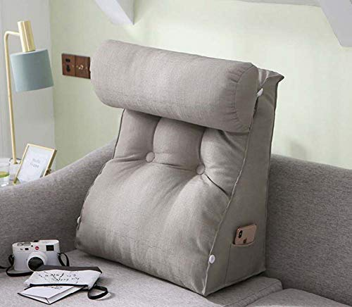 Bed Wedge Backrest Reading Pillow Bolster Daybed Sofa Bed Office Chair Rest Cushion Throw Pillow Adjustable Back Wedge Cushion Pillow,3,L