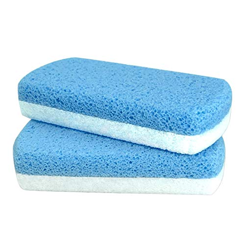 Glass Pumice Stone for Feet, Callus Remover and Foot scrubber & Pedicure Exfoliator Tool Pack of 2
