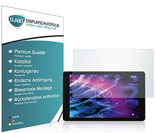 Slabo 2 x Bildschirmschutzfolie kompatibel mit Medion Lifetab X10605 / X10607 / P10602 / P10605 / P10606 Bildschirmschutz Schutzfolie Folie Crystal Clear unsichtbar Made IN Germany