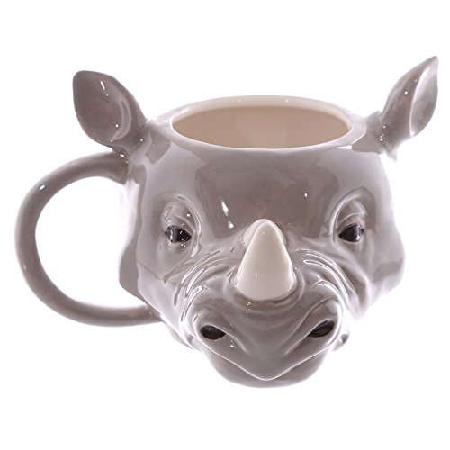 Nashorn Kopf Tasse aus Keramik