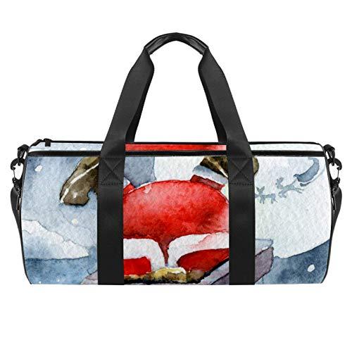 Nikolaus-Kamin, Sporttasche, zylindrische Reisetasche, Reisetasche mit Nassfach, leichte Trainingstasche, Reisen mit Schultergurt für Damen und Herren