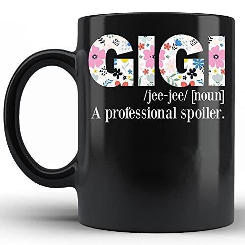 Taza de definición de abuela con significado de Gigi Taza del día de la madre de definición de Gigi Diccionario de citas de Gigi Taza de cerámica novedosa de 11 onzas