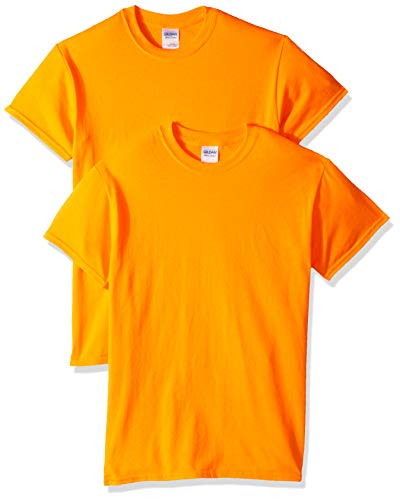 Gildan Men's Ultra Cotton T-Shirt, Style G2000, 2-Pack, Safety Orange, Medium