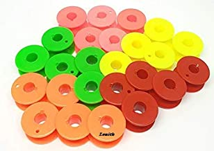 Zenith 50 Solid Multi Color Bobbins for Any Automatic Sewing Machines (Singer/Usha/Brother)
