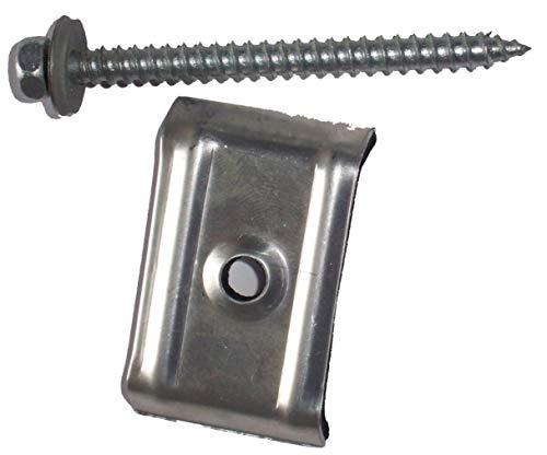 100 Kalotten 35 207 für Trapezprofil mit Fassadenschrauben aus V2A 6,5 x 75 mm Dichtscheiben 16 mm