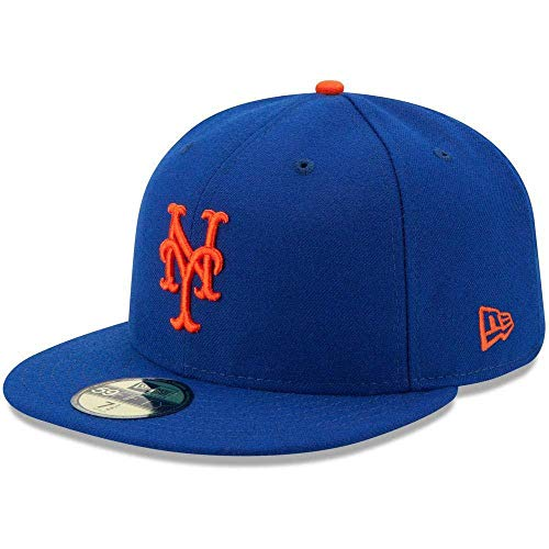 New Era 59FIFTY New York Mets MLB 2017 Authentic Collection On-Field Game Fitted Hat Size 7 3/8 Authentic Fitted Hat Game
