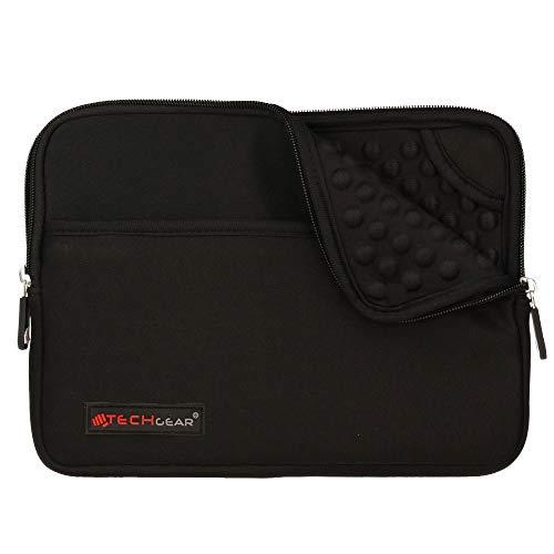 TECHGEAR Pro Sleeve [10] Schutzhülle aus Neopren mit Reißverschluss & Anti-Shock Bubble-Innenausstattung für iPad Mini 4, 3, 2, 1, Samsung Tab 8,0, Iconia 8,0, Asus MeMo Pad 8, ZenPad 8 Schwarz