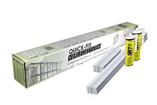 QUICK-FIX sistema para la colocación para 10 bloques de vidrio (19x19x8 cm) - Colocar los bloques de vidrio de forma rápida y fácil