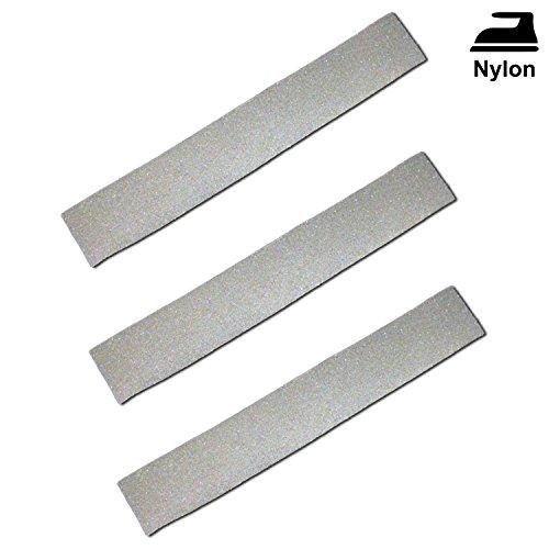 3x Reflexstreifen / Reflektorstreifen zum Aufbügeln für Nylon Stoff