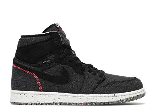 Nike Air Jordan 1 High Zoom SH, Zapatillas de básquetbol para Hombre, Black Flash Crimson Wolf Grey, 47 EU