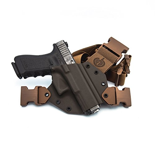GunfightersINC Kenai Chest Holster for Glock 19/23/32, Right Hand (MAS Grey/Coyote)