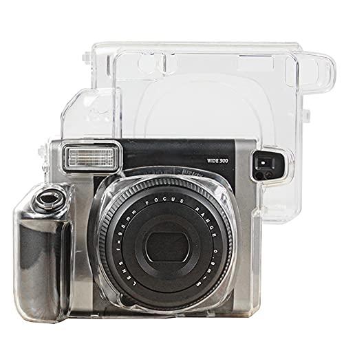 Funda protectora compatible con instax Wide 300, funda rígida de plástico transparente o bolsa cruzada de piel sintética (funda rígida de plástico transparente)