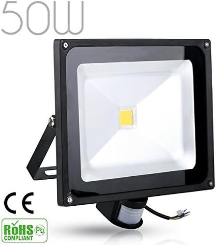 [Rondaful] 2er Set 20W LED Fluter Strahler + Bewegungsmelder 1700-1800Lm Kaltweiß Spot Außenstrahler Lampe IP65 wasserdicht Objektbeleuchtung Flutlicht,ohne Stecker Warmweiss 50w