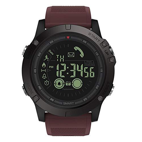 Pulsera Bluetooth inteligente YouN Zeblaze VIBE3 para iOS y Android reloj inteligente(Marrón Rojo)