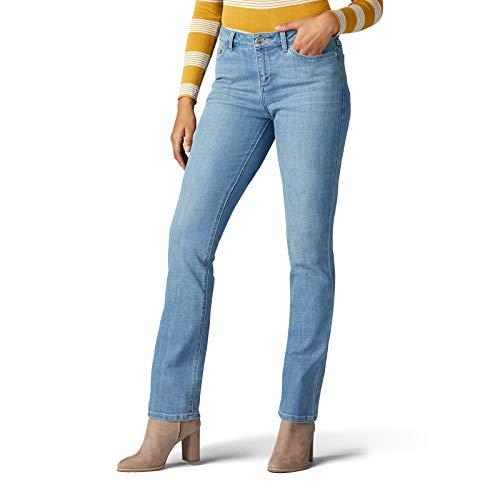 Lee Women's Legendary Regular Fit Straight Leg Jean, Inspired Blue, 14 Petite