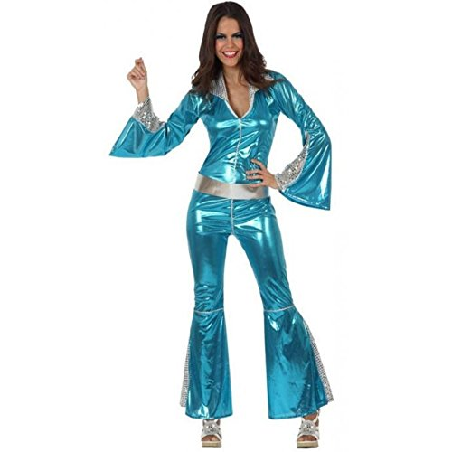 Atosa-10393 Disfraz Disco, color celeste, XL (10393)