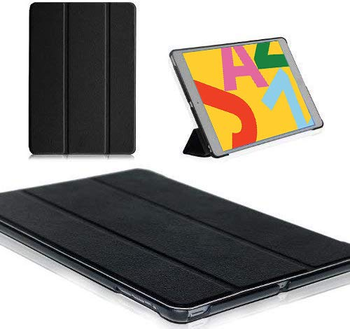"MOFRED Black Ultra Slim Apple iPad 10.2""- 2019 Leather Case-with Built-in magnet for Sleep & Awake Feature - Independently Voted by'The Daily Telegraph' as #1 iPad Case! (Black)"